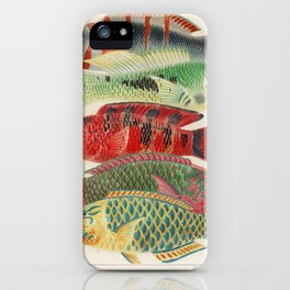 Great Barrier Reef Fishes from The Great Barrier Reef of Australia (1893) by William Saville-Kent (1 iPhone Case