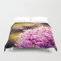 bee Duvet Covers featuring Bee by Rachel's Pet Portraits