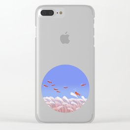 Flying cherry shrimp Clear iPhone Case
