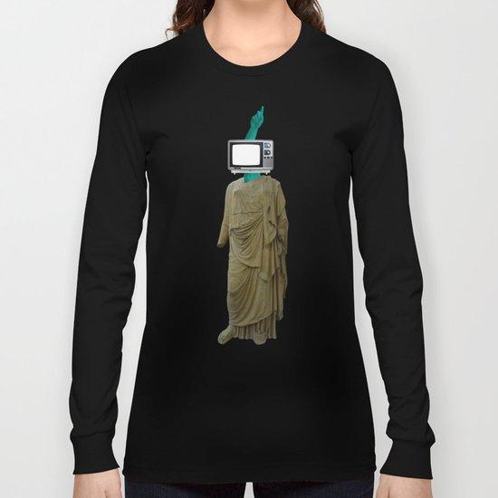 Stillstand · TV Statue Woman 1v2 Long Sleeve T-shirt