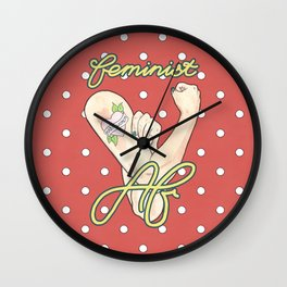 Feminist AF / Rosie the Riveter / Intersectional Feminism / Nasty Women Wall Clock