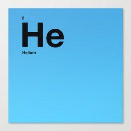 Helium Canvas Print