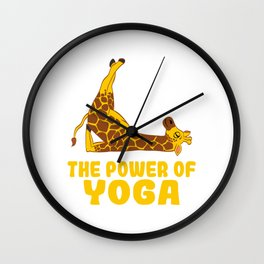 A Nice Relaxing Tee For Yoga Persons With A Cute Illustration Of A Giraffe T-shirt Design Relax Calm Wall Clock