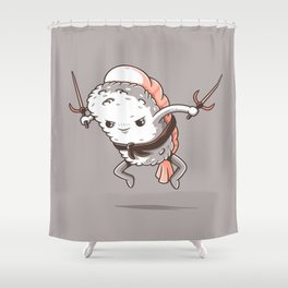 Samurai sushi - Shrimp Shower Curtain