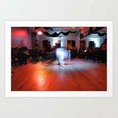 bboy on the floor Art Print