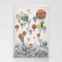 fashion illustration Stationery Cards featuring Voyages over Edinburgh by David Fleck