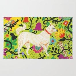 Spring Jindo Dog Rug