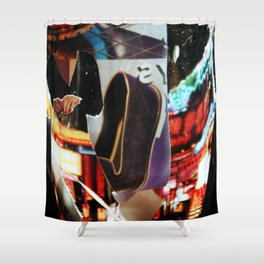 Night Time Shopping Shower Curtain