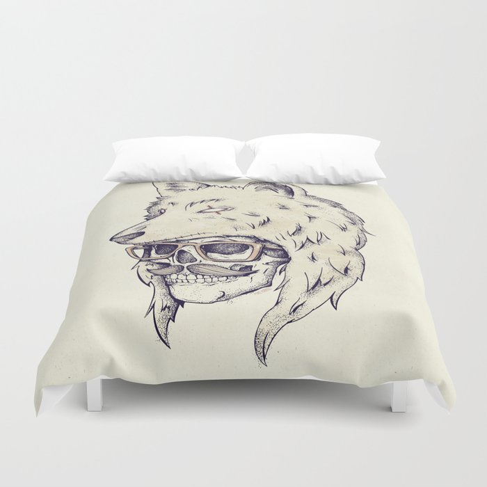 WOLF HAT Duvet Cover