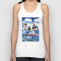 elephants Tank Tops featuring elephants by singingsaw