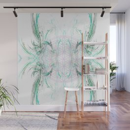 smoke on the flower of life Wall Mural