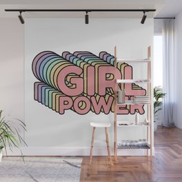 Girl Power grl pwr Retro Wall Mural