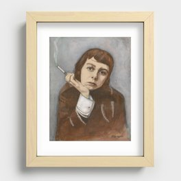 Carson McCullers Recessed Framed Print