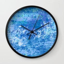 Blue Abstract, Ocean, Sky Wall Clock