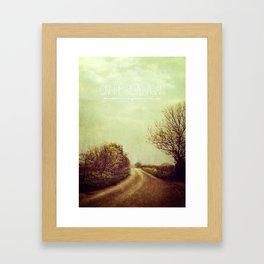 On the Road Again Framed Art Print