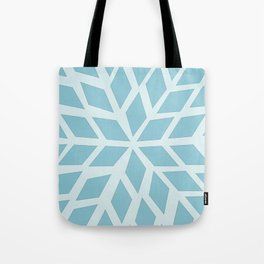 Light blue, diamond, mosaic pattern. Moroccan tile. Tote Bag