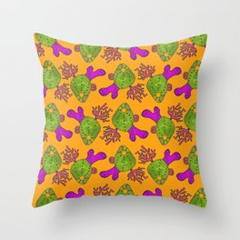 The Retro Coral Pattern Throw Pillow