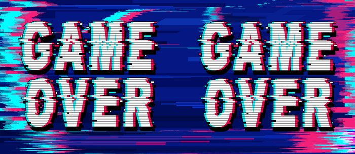 Game Over Glitch Text Distorted Coffee Mug
