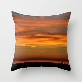 Pacific Ocean Sunset Throw Pillow