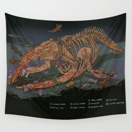 whale fall Wall Tapestry