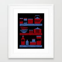 cooking Framed Art Prints featuring Cooking by Jennifer Epstein