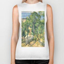 """Paul Cezanne """"View of the sea at L'Estaque"""" Biker Tank"""