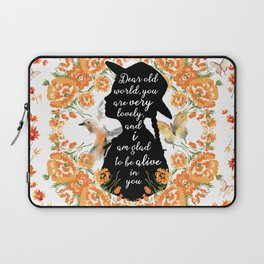 Anne Quote Laptop Sleeve