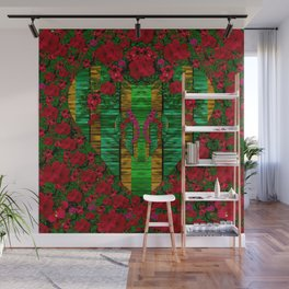 loveable landscape in big flower blooms Wall Mural