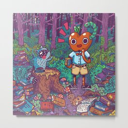 Forest Library Metal Print
