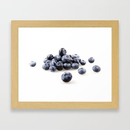 Blueberry Isolated On White Background Framed Art Print