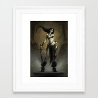 warrior Framed Art Prints featuring Warrior! by Coliandre