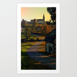 Road up to the hill | landscape photography Art Print