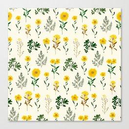 Yellow daisy pattern  Canvas Print