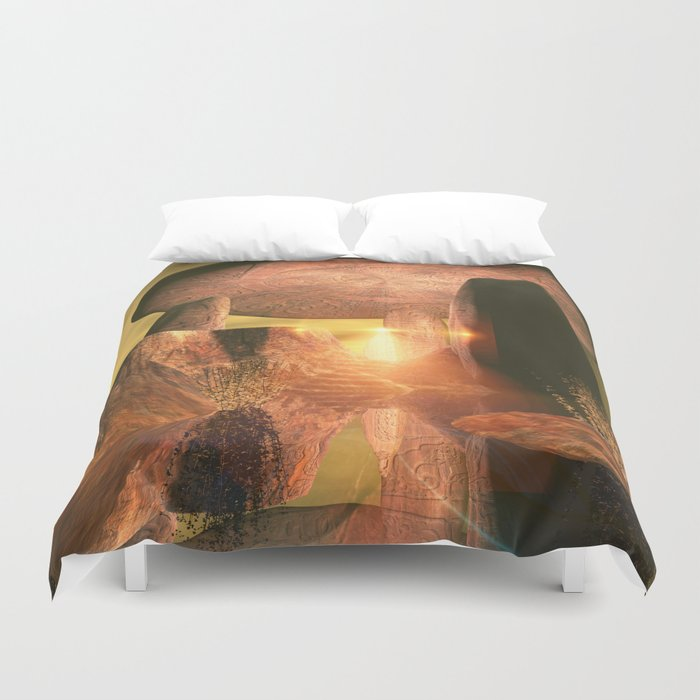 The old temple Duvet Cover