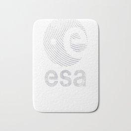 European Space Agency Vintage White V02 Bath Mat