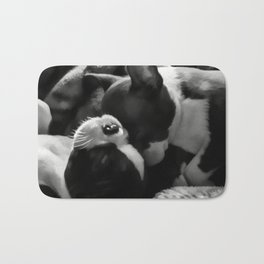 Sleeping Beauties - Boston Terrier Bath Mat