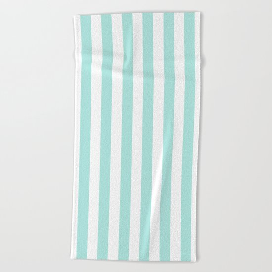 Aqua Stripes vertical- Beautiful maritime pattern Beach Towel