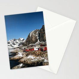 aerial view of reine Stationery Cards