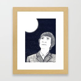 Man and Moon Framed Art Print