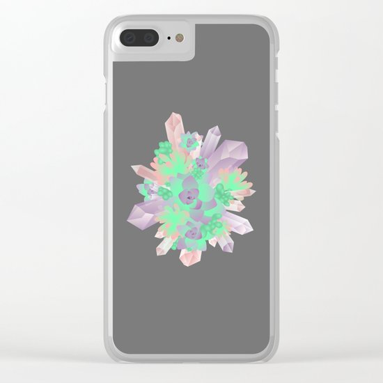 Crystal&Succulents Clear iPhone Case
