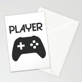 Player Text and Gamepad Stationery Cards