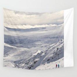 Snowy landscape Wall Tapestry