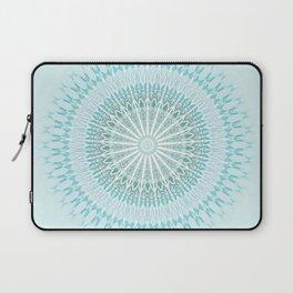 Turquoise White Mandala Laptop Sleeve