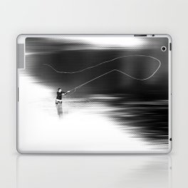 A river runs through it. (dotted) Laptop & iPad Skin