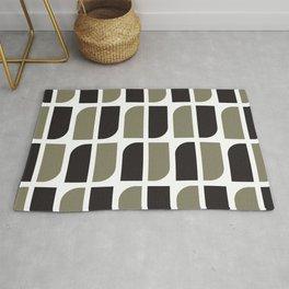 Geometric Pattern #41 (black gray) Rug