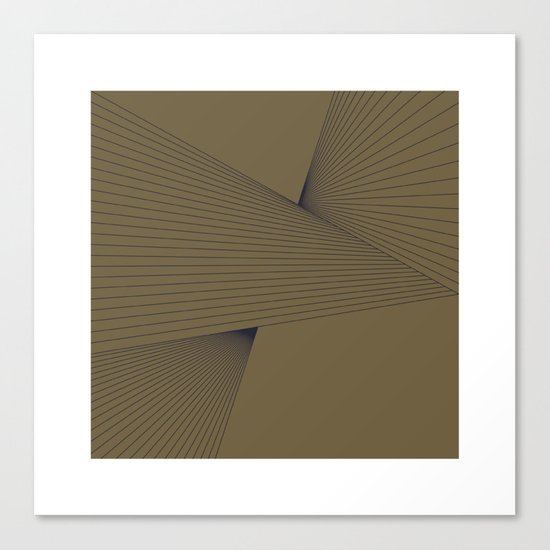#305 Tension – Geometry Daily Canvas Print