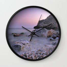 Little stones at sunset Wall Clock