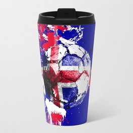 football Iceland Travel Mug