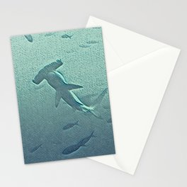 Oh, a hammerhead shark! Stationery Cards