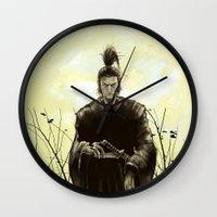 samurai Wall Clocks featuring Samurai by Tony Vazquez
